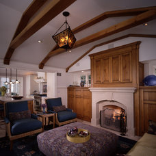 Traditional Family Room by Benvenuti and Stein