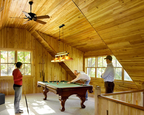 Example of a trendy game room design in Boston