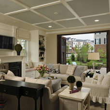 Modern Family Room by Laura Manning Bendik