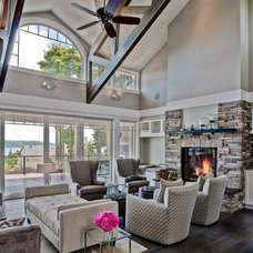 Traditional Family Room by Don Larkin, Architect, AIA, PLLC