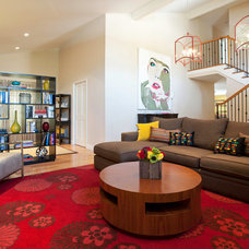 Contemporary Family Room by Susan Corry Design