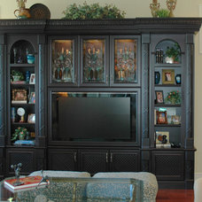 Traditional Family Room by ELEGANCE IN WOOD