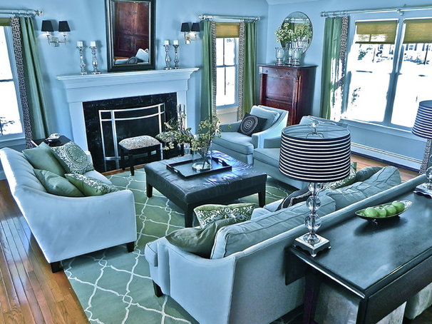 Traditional Family Room by South Shore Decorating