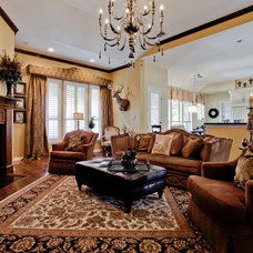 Traditional Family Room by Lori Rourk Interiors Inc.
