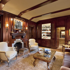 Traditional Family Room by Jennifer Bevan Interiors
