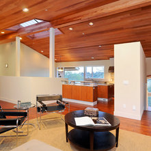 Contemporary Family Room by Stoecker and Northway Architects, Inc.