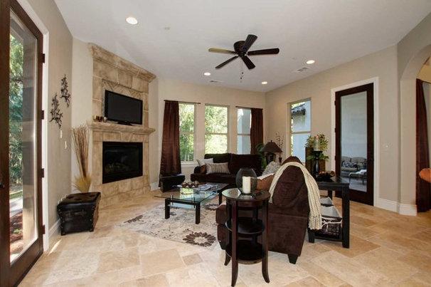 Mediterranean Family Room by Riverside Builders