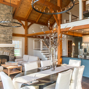 post and bePost and Beam Great Room