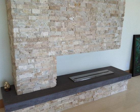 Modern Stone Fireplace Houzz