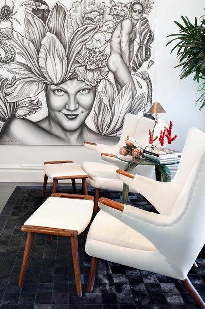 Eclectic Family Room by Antonio Martins Interior Design