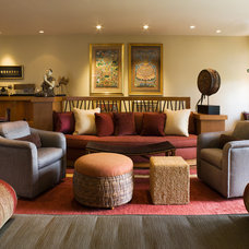 Contemporary Family Room by Applegate Tran Interiors