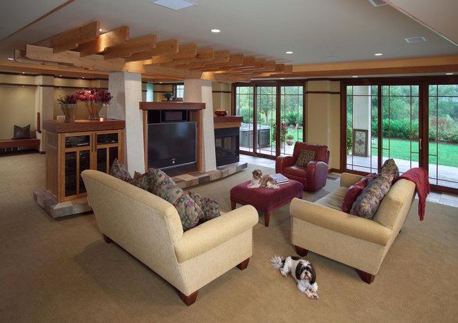 Modern Family Room by JALIN Design, LLC