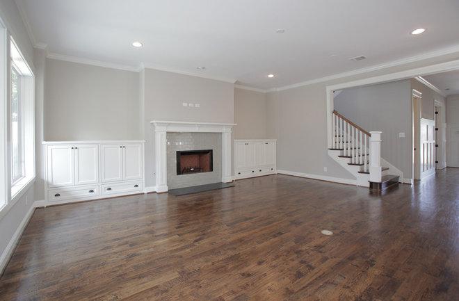 Traditional Family Room by Canterbury Custom Homes LLC