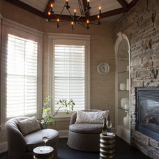 Contemporary Family Room by R. Cartwright Design