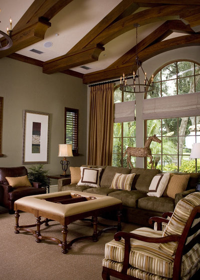 Traditional Family Room by Anne Rue Interiors