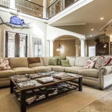 Mediterranean Family Room by Bella Estates, Inc.