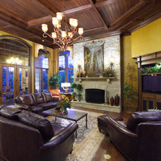 Traditional Family Room by Hensley Custom Building Group