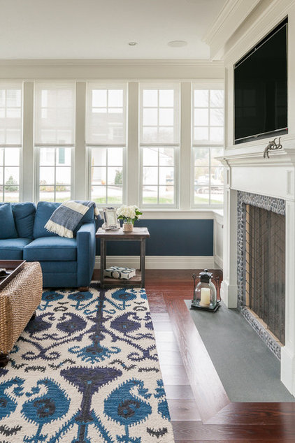 Beach Style Family Room by JS Interiors LLC