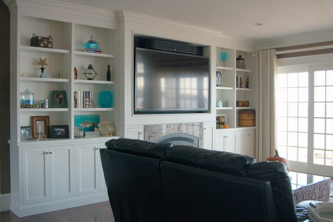 Beach Style Family Room by Kitchen & Bath Details