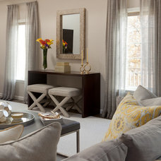 Transitional Family Room by A-List Interiors