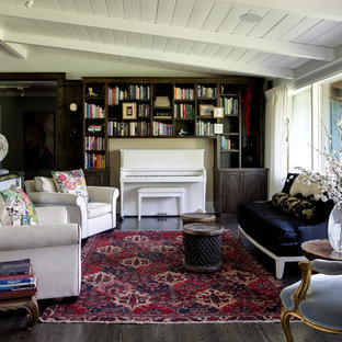 Inspiration for a contemporary family room remodel in Denver with a music area