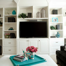 modern family room by Belmont Design Group