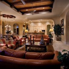 Mediterranean Family Room by Rey Hernandez Interior Design
