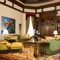 Traditional Family Room by Susan Lachance Interior Design