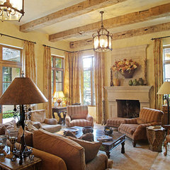 mediterranean family room by CGN Designs LLC