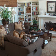family room by Donald B. Lane Interiors