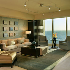 Contemporary Family Room by Hyland Custom Cabinetry