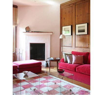 Mediterranean Family Room by valerie pasquiou interiors + design, inc