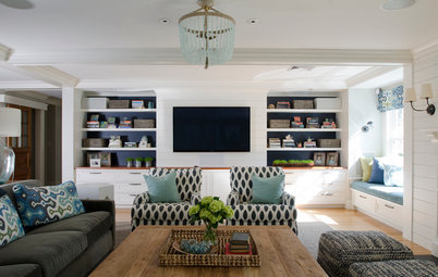 Room of the Day:  Refreshing Coastal Hues in a Family-Friendly Space