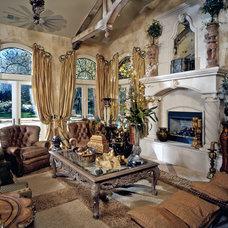 Mediterranean Family Room by Studio 81 International