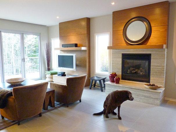 Contemporary Family Room by Sukava Associates Interior Design