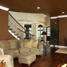 Traditional Family Room by Thomas Fend, Licensed Architect