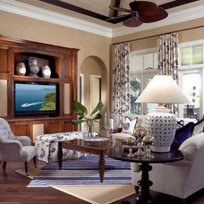 Traditional Family Room by Pacifica Interior Design