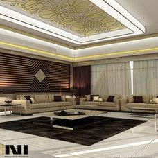 Modern Family Room by Mohammed Natheer