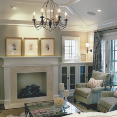 Traditional Family Room by J.A. Smith Construction & Design Studio