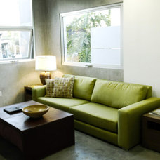 Modern Family Room by Viesso