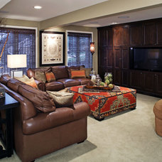 Traditional Family Room by Pam Carroll Planning & Design