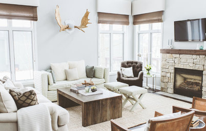 Houzz Tour: Cottage Style Goes Modern Rustic on Lake Wisconsin