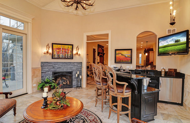 Traditional Family Room by McNaughton Development, Inc.