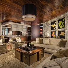 Contemporary Family Room by KAREN BUTERA INC. - Interior Design