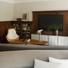 Modern Family Room by David Howell Design
