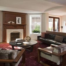 Modern Family Room by David Howell Design