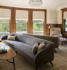 contemporary family room by David Howell Design