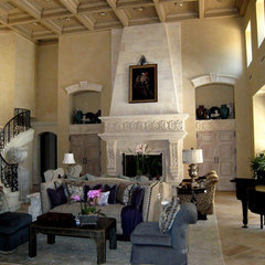 mediterranean family room by Gilreath Decorative Finishes, Inc.