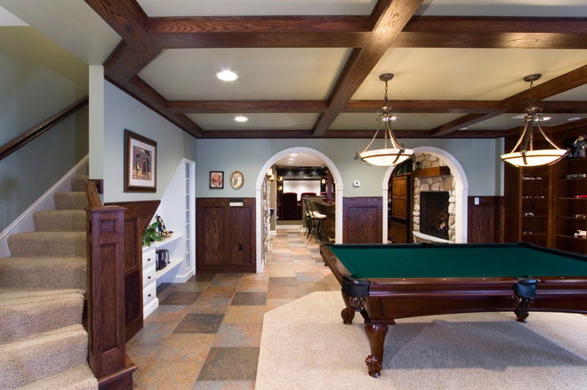 Traditional Basement by Deimler & Sons Construction