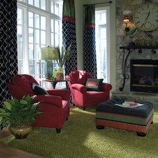 Contemporary Family Room by Hemphill's Rugs & Carpets